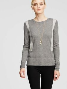 Ann Taylor Color Block Button Back Sweater Small